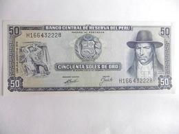 PEROU-BILLET DE 50 SOLES DEL ORO-1977-NEUF/UNC - Peru