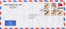 Taiwan Air Mail Cover Sent To Denmark 17-1-1987 With Topic Stamps - 1945-... Republic Of China