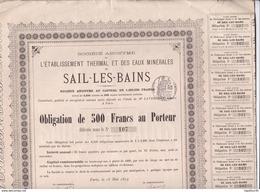 "Actions & Titres ""Sail Les Bains 1879"" - Shareholdings"