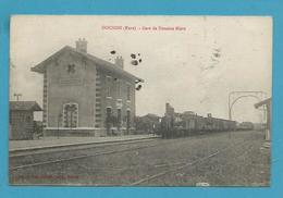 CPA - Chemin De Fer Train En Gare De DOUAINS 27 - Sonstige Gemeinden