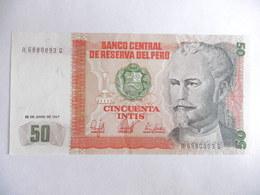 PEROU-BILLET DE 50 INTIS-1987-NEUF/UNC - Pérou