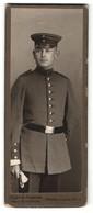 Fotografie A. Odemar-Tiedemann, Dessau, Portrait Soldat In Uniform - Anonyme Personen