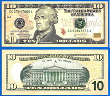 USA 10 Dollars 2004 A Neuf UNC Mint Philadelphie C3 2004A Philadelphia  Etats Unis United States Dollar Skrill Paypal - Biljetten Van De  Federal Reserve (1928-...)