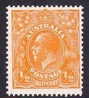 Australia SG 124 1933 King George V,half Penny Orange, C Of A Watermark, Mint Never Hinged - 1913-36 George V: Heads