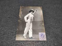 "ANTIQUE PHOTO POSTCARD SPAIN DANCING GIRL "" LA MALAGUENITA"" CIRCULATED EARLY XX - Portraits"