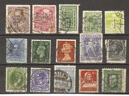 Europe - Perfins/Perforés - Petit Lot De 15 - Autriche - Danemark - Italie - Luxembourg - GB - Espagne -  Grèce - Suisse - Briefmarken