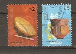 Argentine 2000 - Objets Traditionnels, Archéologie  - YT 2191/2204° - Urne Funéraire - Tambour - Argentine