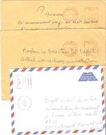 Algérie 1997 - Petit Lot De 3 Lettres - Fedj M'Zala/Ech Cheliff/Ghazao à Clermont Ferrand - Commissariat Armée De Terre - Algérie (1962-...)