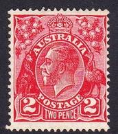 Australia SG 127 1931 King George V,2d Golden Scarlet, C Of A Watermark, Mint Never Hinged - 1913-36 George V: Heads