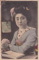 GEISHA 芸者 TRADITIONAL COSTUME CIRCA 1890's OBLITERE JAPAN.- BLEUP - Kostums