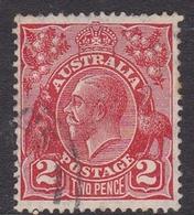 Australia SG 127 1931 King George V,2d Golden Scarlet, C Of A Watermark, Used - 1913-36 George V: Heads