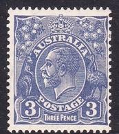 Australia SG 128 1932 King George V,3d Ultramarine, C Of A Watermark, Mint Hinged - 1913-36 George V: Heads