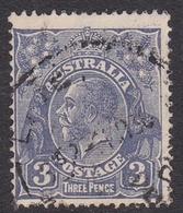 Australia SG 128 1932 King George V,3d Ultramarine, C Of A Watermark, Used - 1913-36 George V : Têtes