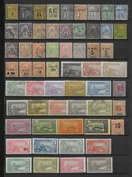 GUADELOUPE - COLLECTION */(*)/Ob TB/QUELQUES RARES AVEC PETITS DEFAUTS ET SERIES SOUVENT INCOMPLETES - COTE = 450 EUR - Guadeloupe (1884-1947)