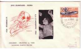 *FDC FILAGRANO OLIMPIADI ROMA 1960 I VINCITORI:CICLISMO Velocità M.1000  GAIARDONI. - Italia