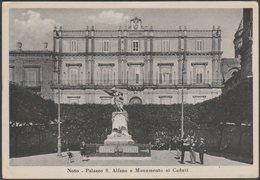 Palazzo S. Alfano E Monumento Ai Caduti, Noto, Sicilia, 1925 - Francesco Cartolina - Italy