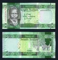 SOUTH SUDAN  -  2011  1 Pound  Giraffe  UNC - South Sudan
