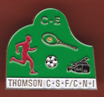 53063-Pin's.CE.comité D'entreprise ThomsonCSF.CNI.Photo.football.tennis.. - Photography