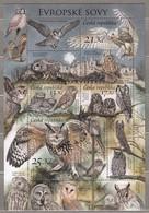 BIRDS CZECH 2009 Owls Sheet MNH (**) Mi Bl 38 #22785 - Owls