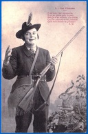 A. BERGERET CARTE HUMORISTIQUE FANTAISIE VERS 1900 N° 1 LA CHASSE NON ÉCRITE HOMME - NOTRE SITE Serbon63 - People