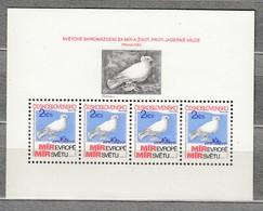 BIRDS Czechoslovakia 1983 Peace Dove MNH (**) Mi Bl 54 #22787 - Tchécoslovaquie