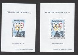 Thème SPORT JO Jeux Olympique - N° 1937 CIO 1994 Bloc Non Dentelé + Dentelé TB** - Neufs