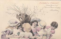 Fröhliche OSTERN - Künstlerkarte Von Von ? Gonan Gel.1902, Gute Erhaltung - Ostern