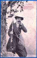 A. BERGERET CARTE HUMORISTIQUE FANTAISIE VERS 1900 N° 6 LA CHASSE NON ÉCRITE FEMME - NOTRE SITE Serbon63 - People