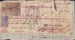 E6006 CUBA SPAIN ESPAÑA COLONIES. 1864. 5/ UK ENGLAND REVENUE STAMP. BANK CHECK - Assegni & Assegni Di Viaggio