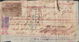 E6006 CUBA SPAIN ESPAÑA COLONIES. 1864. 5/ UK ENGLAND REVENUE STAMP. BANK CHECK - Cheques & Traveler's Cheques