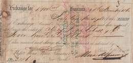 E6018 CUBA SPAIN ESPAÑA COLONIES. 1854. HAVA. BANK CHECK MORA Y Bross NEW YORK. - Assegni & Assegni Di Viaggio