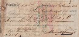 E6018 CUBA SPAIN ESPAÑA COLONIES. 1854. HAVA. BANK CHECK MORA Y Bross NEW YORK. - Cheques & Traveler's Cheques
