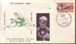 FDC FILAGRANO OLIMPIADI ROMA 1960 I VINCITORI:LOTTA GRECO-ROMANA Pesi Medi   DOBREY. - Italia