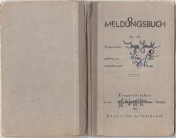 MELDUNGSBUCH PHILOSOPHISCHEN FAKULTÄT Der Universität Zu Innsbruck 1945, Voll Mit Eintragungen, Stempel U.Stempelmarken - Historische Dokumente