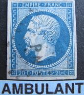 "LOT R1749/150 - NAPOLEON III N°14B - CACHET AMBULANT "" P N "" - 1853-1860 Napoléon III"