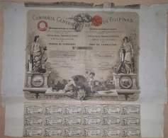 BON-307 SPAIN ESPAÑA. PHILIPPINES TOBACCO BON 1882. Co. BONO TABACOS DE FILIPINAS. - Autres
