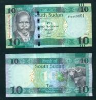 SOUTH SUDAN  -   2016 10 Pounds  UNC  Banknote - Soudan Du Sud