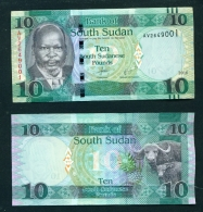 SOUTH SUDAN  -   2016 10 Pounds  UNC  Banknote - South Sudan