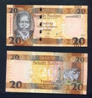 SOUTH SUDAN  -   2017 20 Pounds  UNC  Banknote - Soudan Du Sud