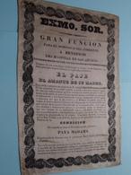 EXMO. SOR. - GRAN FUNCION ( This Object Is In Silk/cotton/soie - Zijde/Katoen ) ( Zie Foto's ) Identify / Identificier ! - Autres Collections