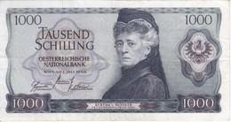 BILLETE DE AUSTRIA DE 1000 SCHILLING DEL AÑO 1966 (BANKNOTE-BANK NOTE) - Austria