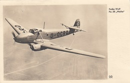"R! FOCKE WOLF - Fw.58 ""Weihe"", Mehrzweckfugzeug Übungsflug F.Blindflug, Orig.Karte Gel.als Feldpost 1940, Gute Erhaltung - Weltkrieg 1939-45"