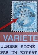 """LOT R1749/162 - NAP III Lauré N°28Bb - VARIETE ☛ """" à La Corne """" Timbre Signé Par Un Expert - Cote : 130,00 € - 1863-1870 Napoleon III With Laurels"""
