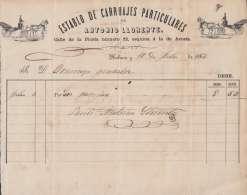 E6077 CUBA SPAIN ESPAÑA 1868 ILLUSTRATED INVOICE ESTABLO DE CARRUAGES. CARRIAGES. - Documentos Históricos