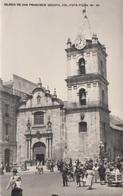 BOGOTA (Kolumbien) - IGLESIA De San Francisco, Fotokarte Gel. 1955?, 2 Seltene Sondermarken, Gute Erhaltung - Colombia