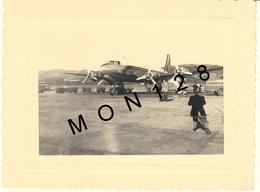 CORSE -AEROPORT AJACCIO CAMPO DELL'ORO - 3 NOVEMBRE 1955- AVION CONSTELLATION AIR FRANCE- PHOTO 11x8cms - Aviation