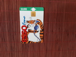 Phonecard Chili  Esso Only 10.000  Made Used Rare - Chile