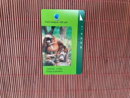 Phonecard Monkeys  Used Rare - Indonesia