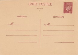 FRANCE - CP ENTIER POSTAL PETAIN 80c - NEUVE / 2 - Postal Stamped Stationery