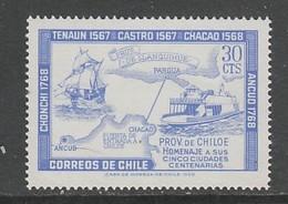 TIMBRE NEUF DU CHILI - 4ES ET 2ES CENTENAIRES DE VILLES DE LA PROVINCE DE CHILOE N° Y&T 327 - Chile